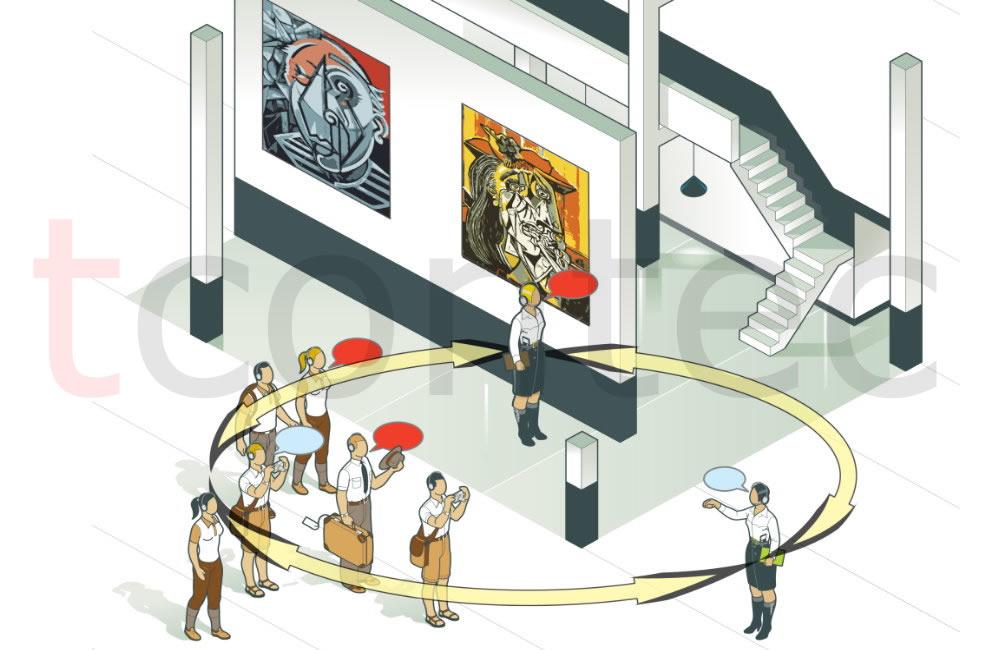 Tamamlandı.Müze, sergi alanında ürün-görsellerin lansman etkinliklerinde sunumun etkisini arttıran kablosuz iletişim sistemi projesi tamamlandı.